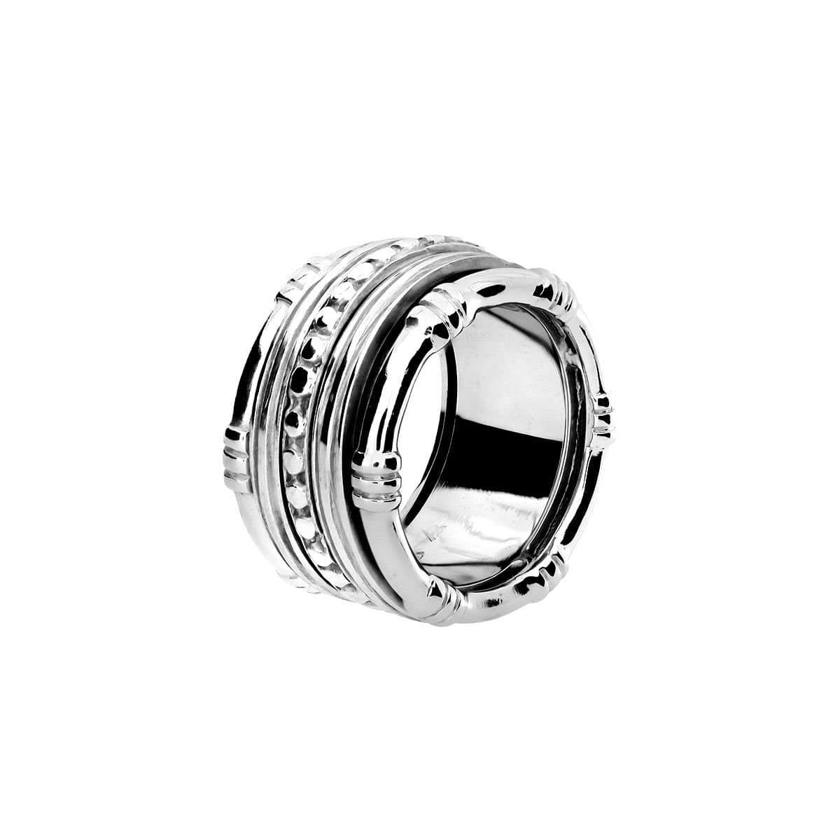 Silver Bamboo Spinning Ring