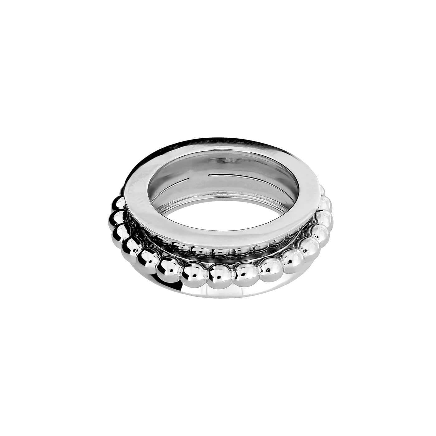Silver Beaded Spinning Ring