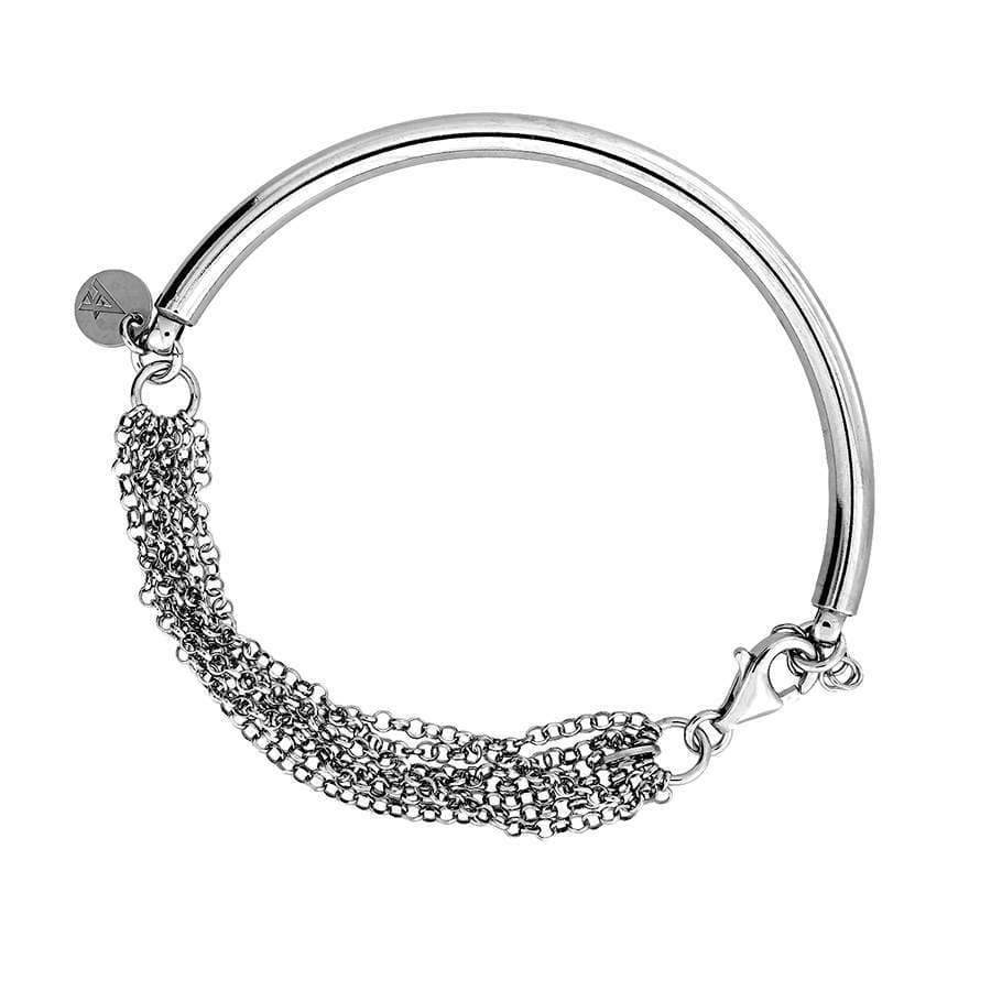 Silver Bracelet with Multi-Strand Chain