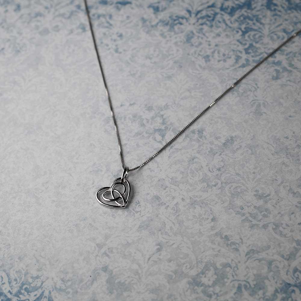 Silver Celtic Looping Heart Pendant