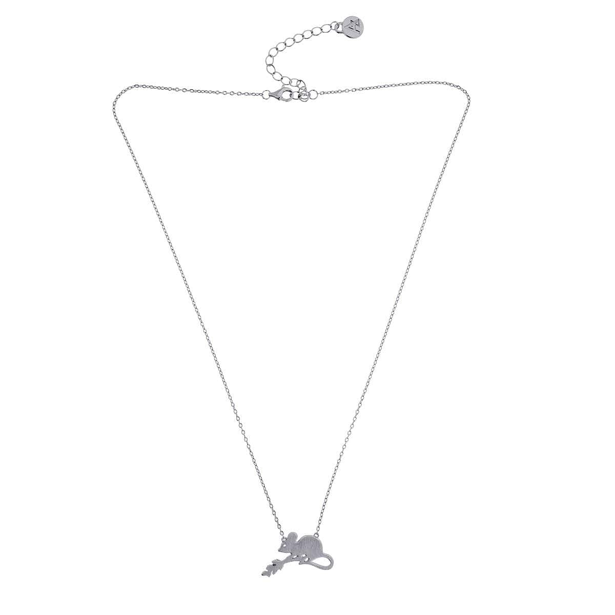 Silver Field Mouse Necklace