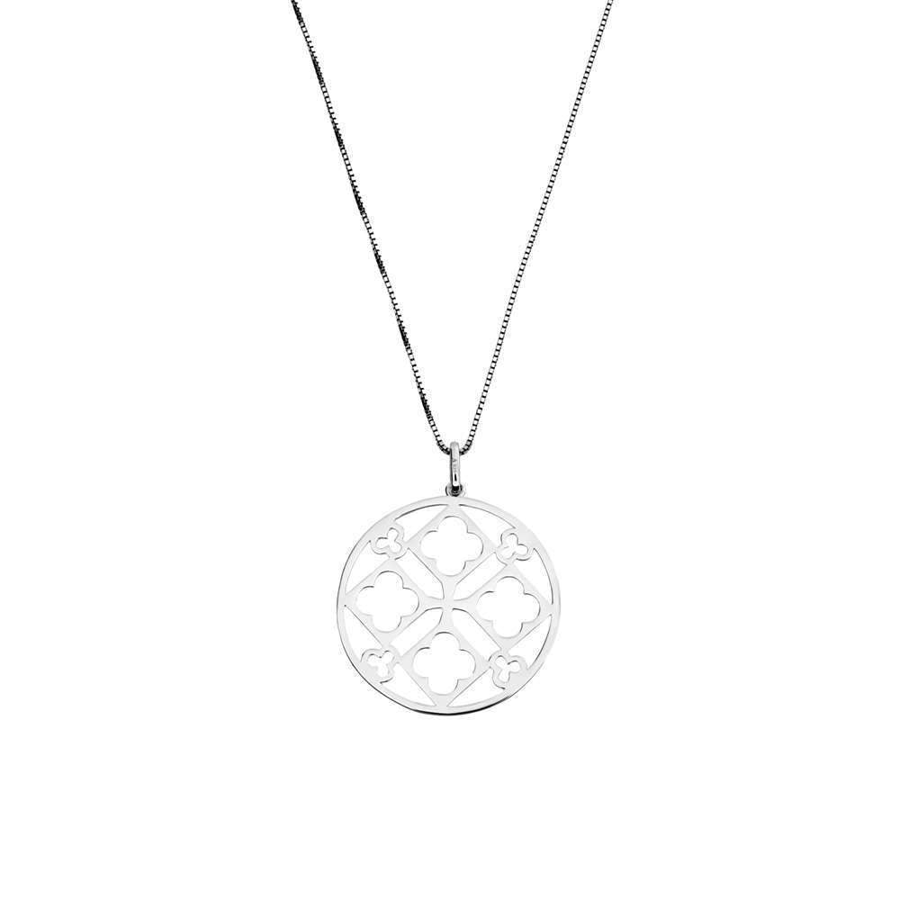 Silver Flowers Cut-out Pendant