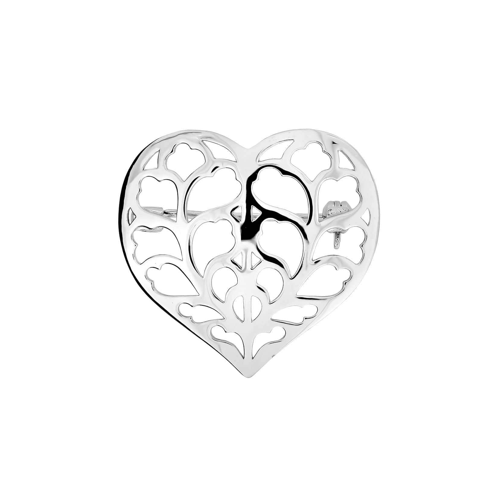 Silver Heart of Yorkshire Brooch - Small