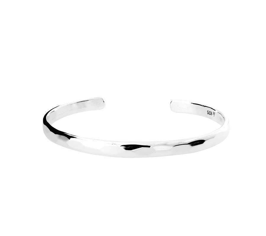 Silver Honeycomb Cuff Bangle