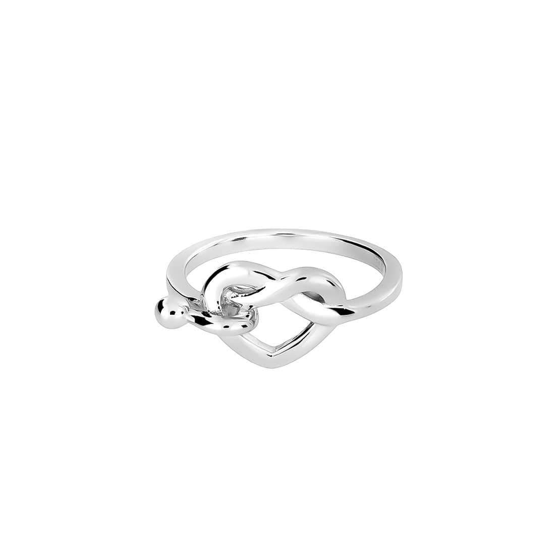 Silver Hook & Heart Ring