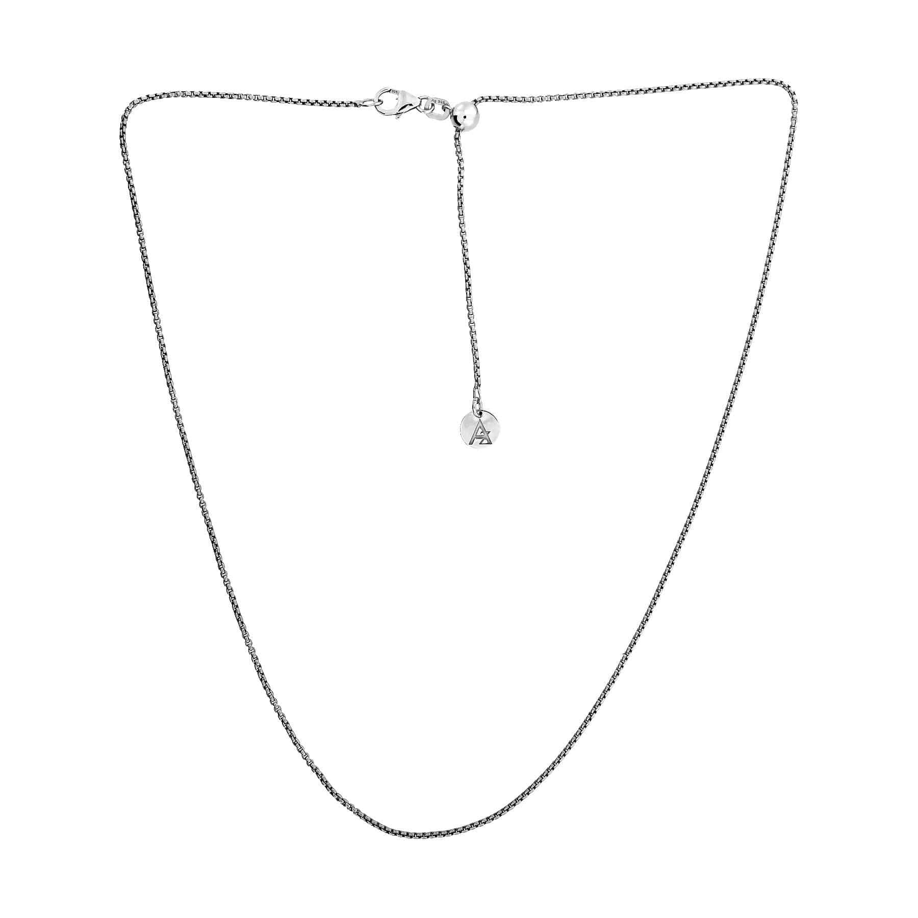 "Silver / Maximum 18"" Length Rollo Chain with Sliding Adjuster"