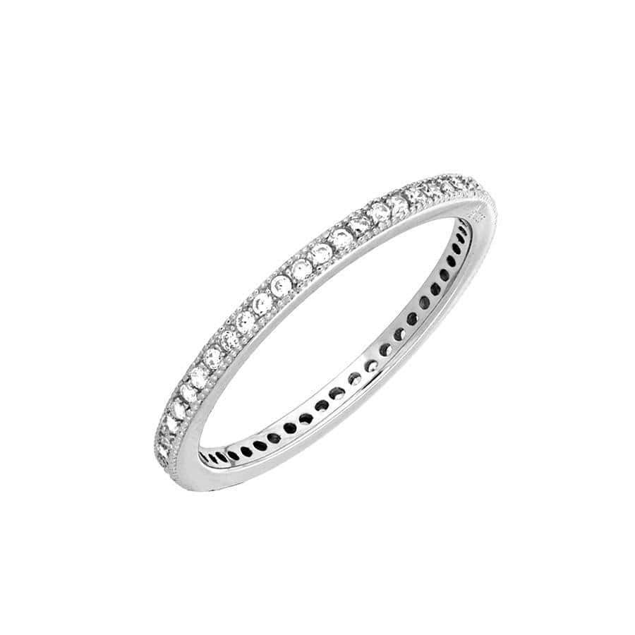 Silver Micropavé Eternity Ring