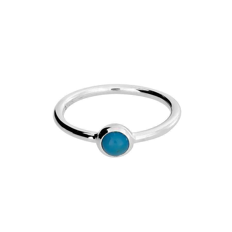 Silver Mini Turquoise Ring
