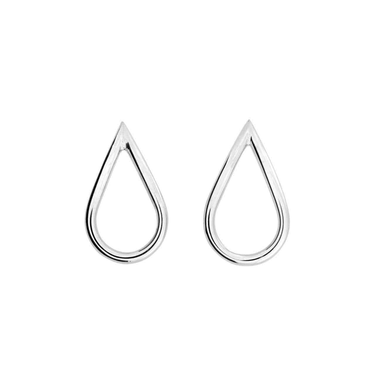 Silver Siena Teardrop Earrings