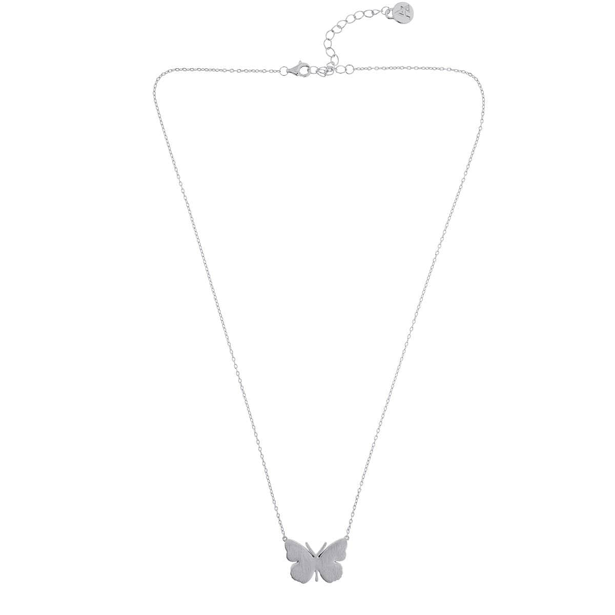 Silver Small Butterfly Necklace