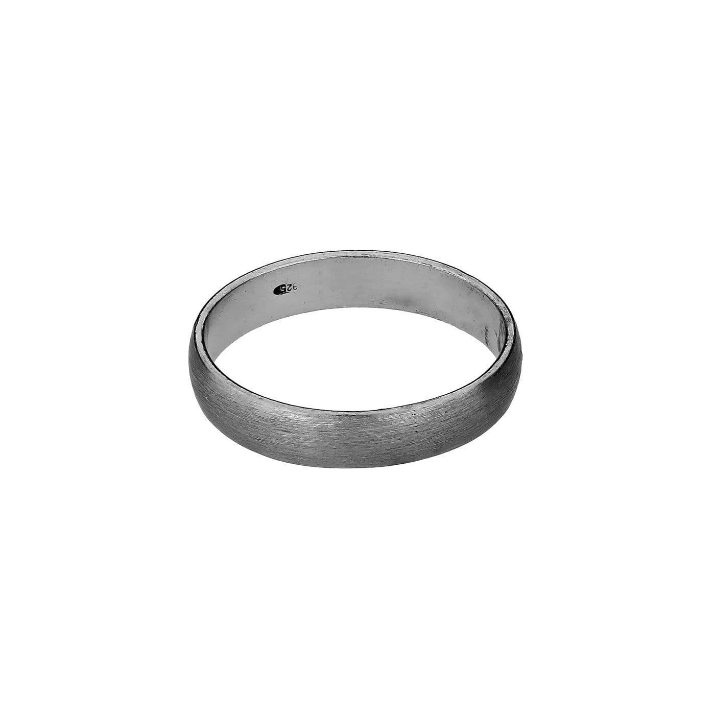 Simple Silver Ring - Satin Finish