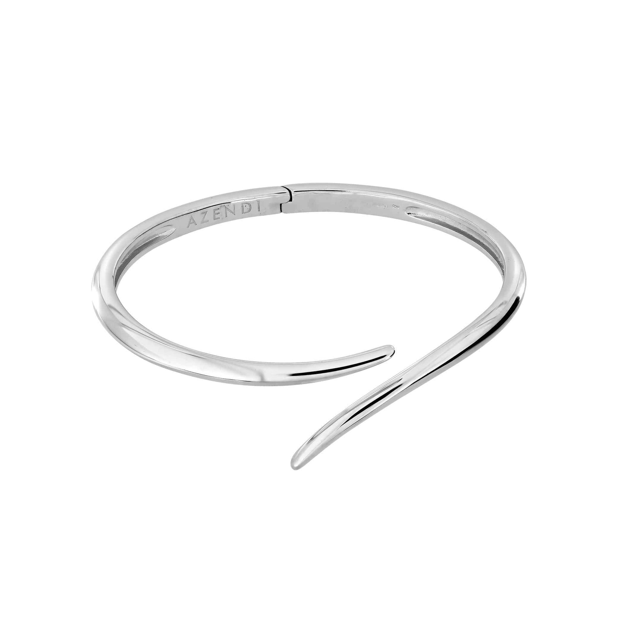 Small: 5.8cm Silver Curl Bangle