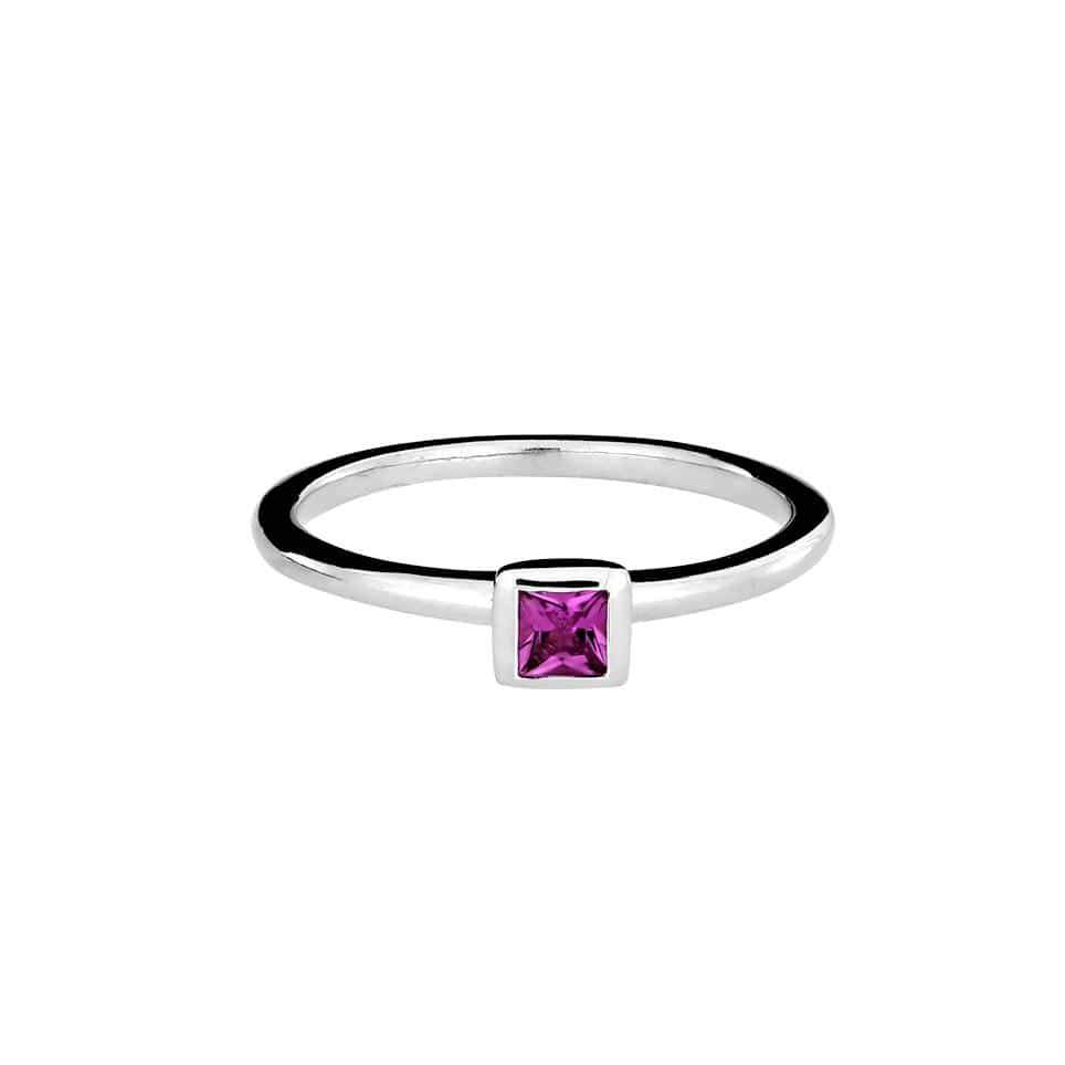 Square Tourmaline & Silver Ring