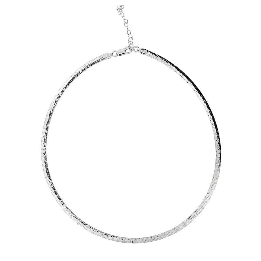 Sterling Silver Hammered Collar