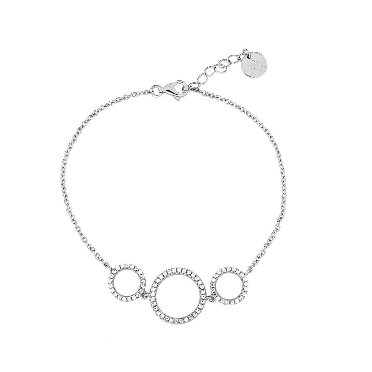Three Circle Pavé Bracelet