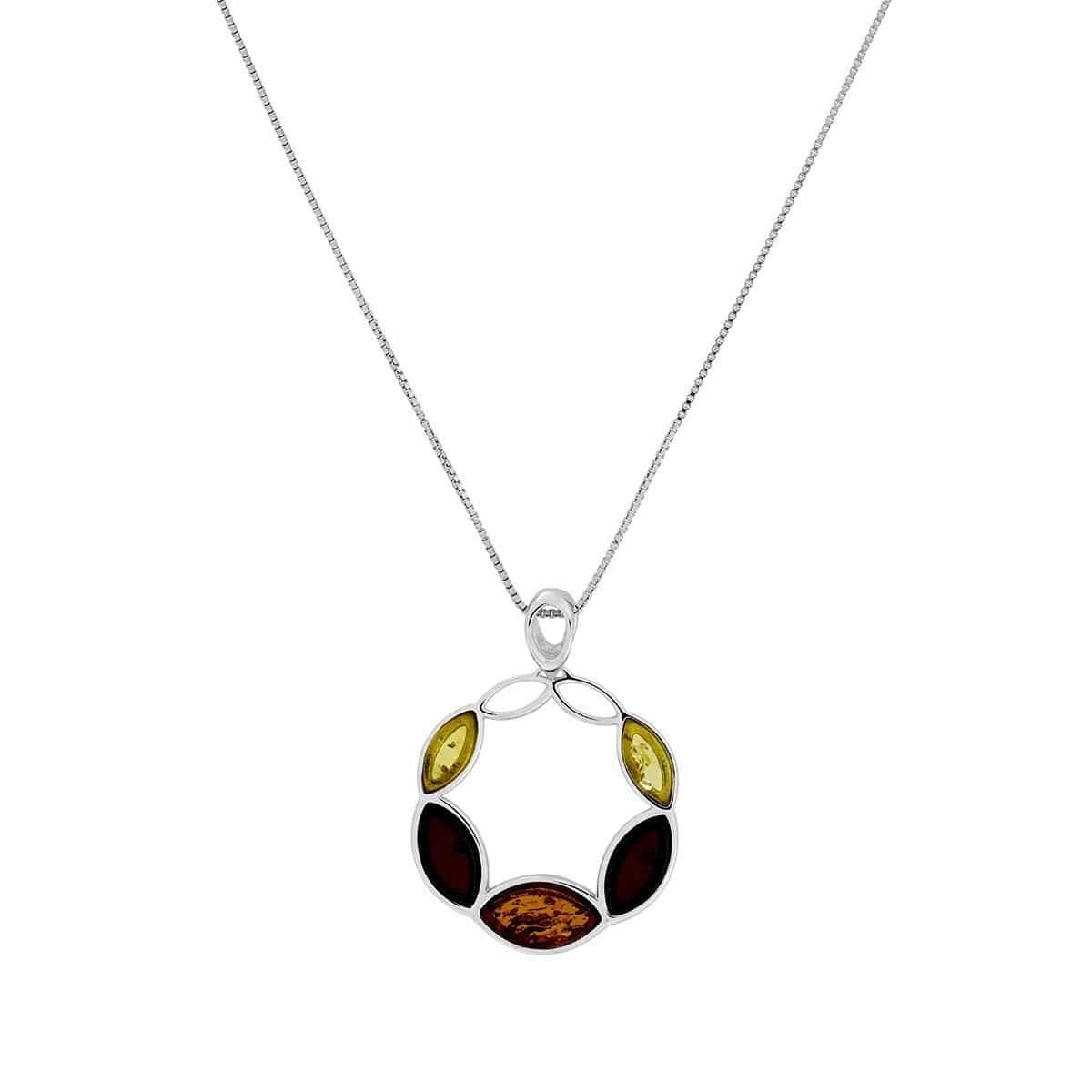 Three Colour Amber Pendant