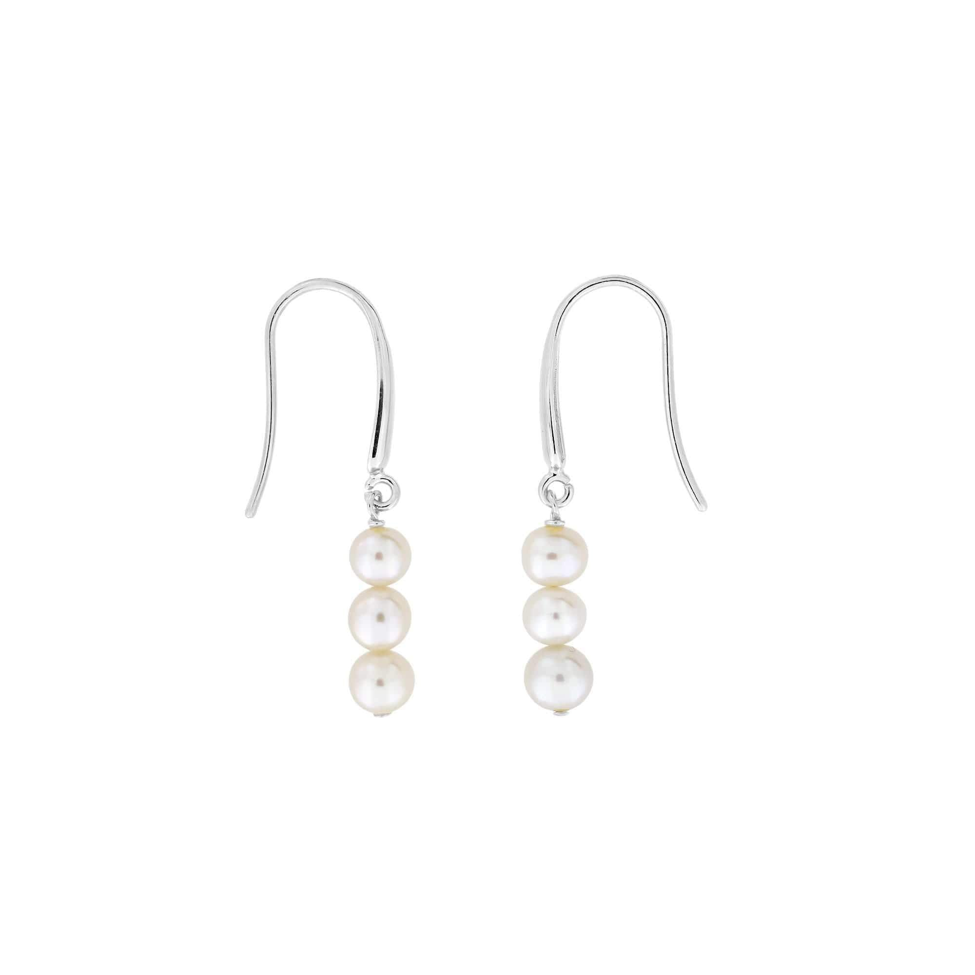 Triple Pearl Drop Earring