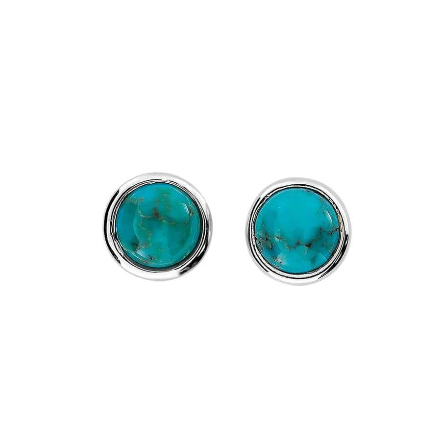 Turquoise Round Stud Earrings