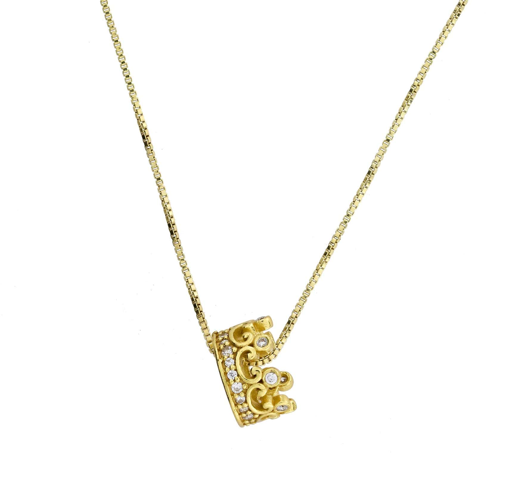 Vermeil Crown Pendant