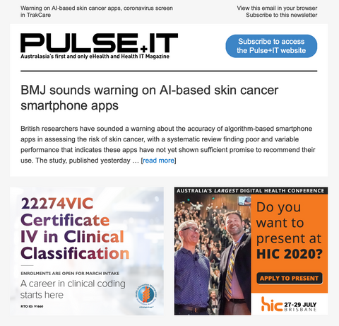 Pulse+IT eNewsletter - Banners