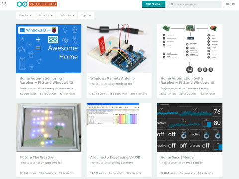 Arduino.cc Project Hub site