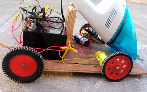 B. Aswinth Raj's Arduino-powered robot vacuum