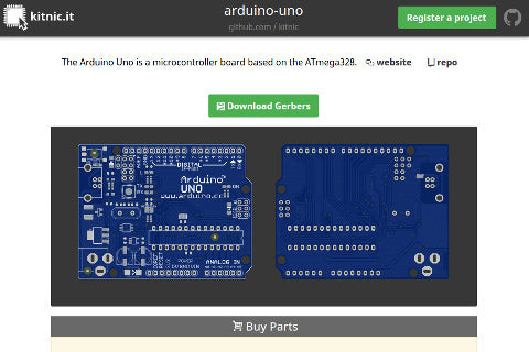 Kitnic.it's page for the Arduino Uno