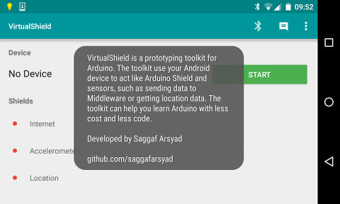 Saggaf Arsyad's VirtualShield Android App