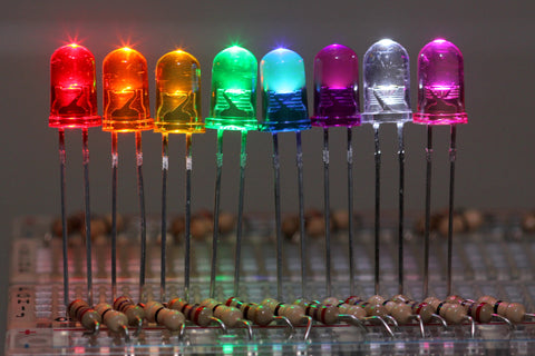 5mm LED Rainbow Pack (Tinted) (5 x 8 Colours 40 LEDs)