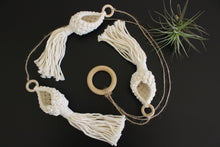 Load image into Gallery viewer, Opal Trio Macrame Air Plant Pods