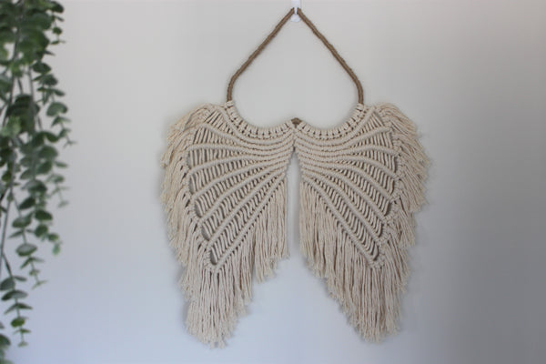 Emilia Macrame Angel Wings - Large