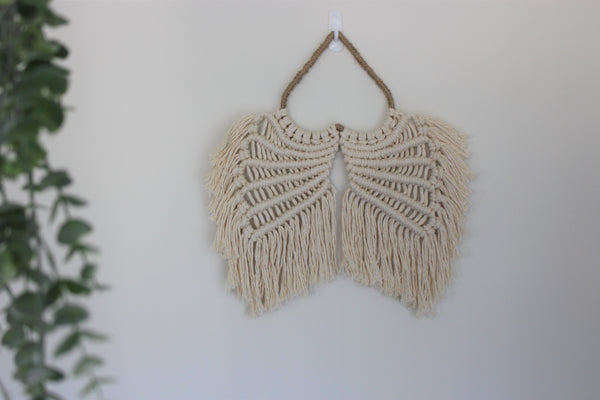 Emilia Macrame Angel Wings - Small