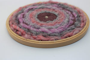 Woven Embroidery Hoop Wall Hanging