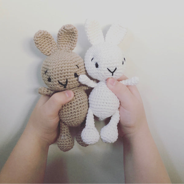 Little bunny named Beau // Newborn Crochet Toy