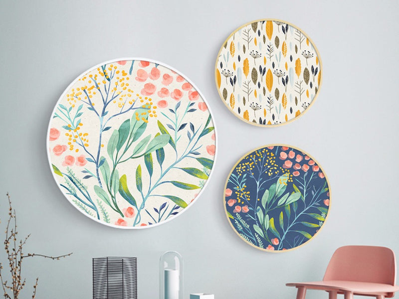 Round Canvas Wall Art