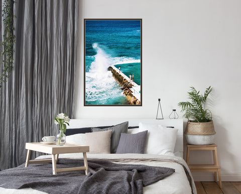 Bondi Beach IceBreakers Framed Canvas Wall Art