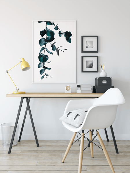 Eucalyptus Simple Print Wall Art Canvas