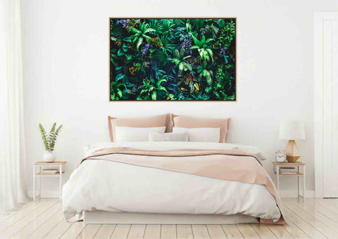Green Wall Framed Canvas Wall Art