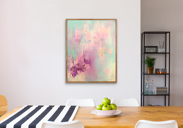 Soft memories pastel abstract wall art