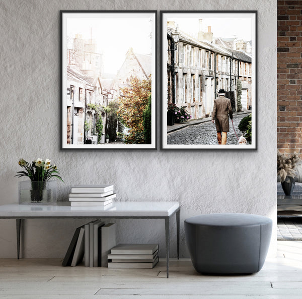 Cobbled Streets of Edinburgh print set