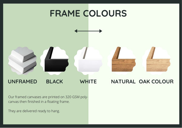 Canvas Art Frame Colours