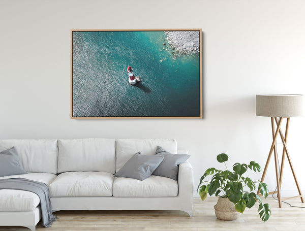 Lighthouse photographic wall art canvas print
