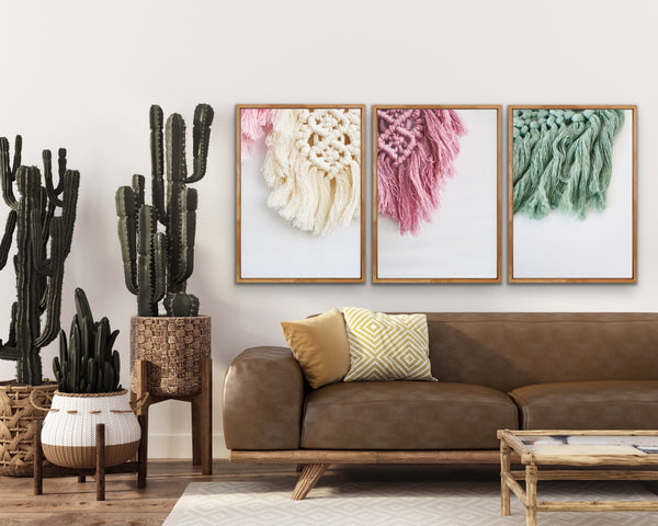 Boho canvas print natural frames