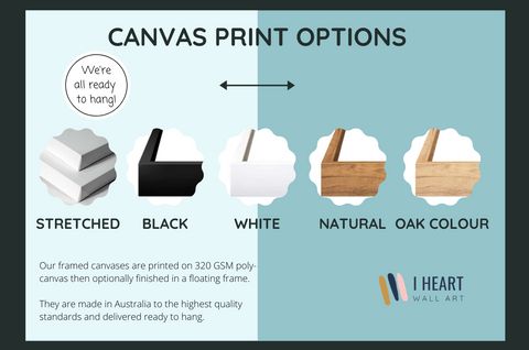 Stretched Canvas Print options