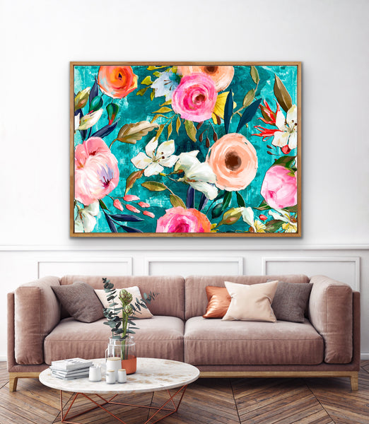 Grandmillenial Style Wall Art in Turquoise