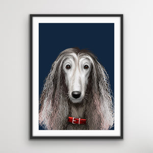 Afghan Hound Dog Art Print - Stretched Canvas Wall Art I Heart Wall Art Australia