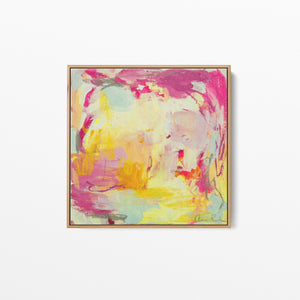 Amira Rahim - The Love Club - Square Abstract Framed Canvas Print Wall Art Print I Heart Wall Art Australia