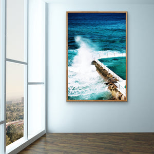 Bondi Icebergs Swimming Pool Photographic Wall Art Print I Heart Wall Art Australia