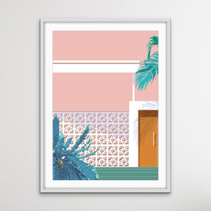 Breezeblocks - Two Piece Mid Century Modern Print Set I Heart Wall Art Australia