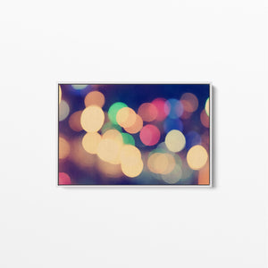City Lights - Bokeh Abstract Original Stretched Canvas Wall Art Print I Heart Wall Art Australia